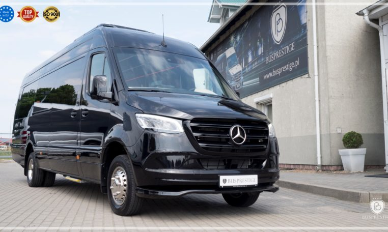 Mercedes Sprinter Bus Side View