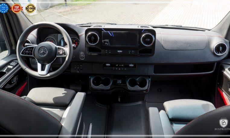Mercedes-Benz Sprinter Luxury Van made by Busprestige M1 van driver dashboard