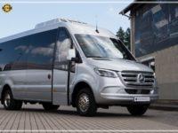 Mercedes-Benz Sprinter Luxury Bus made by Busprestige powered entry door