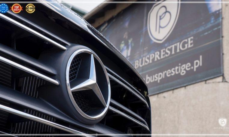 Mercedes-Benz Sprinter Luxury Van made by Busprestige black front grill