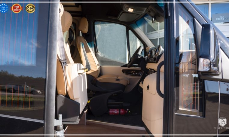 Mercedes-Benz Sprinter Bus 19 pax made by Busprestige luxury interior design bus entry powered