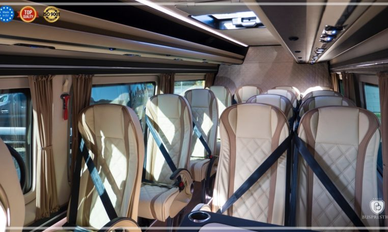 Mercedes-Benz Sprinter Bus 19 pax made by Busprestige luxury interior design beige interior composition