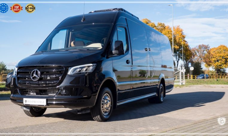 Mercedes-Benz Sprinter Bus 19 pax made by Busprestige luxury interior design black edition