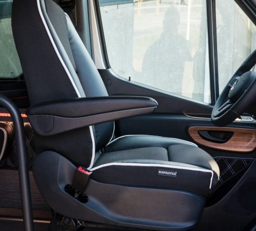 mercedes bus leather driver seat
