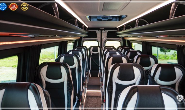 mercedes bus in 19 pax + 1 driver configuration