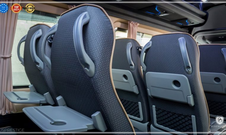 mercedes bus sege seats with iPad places