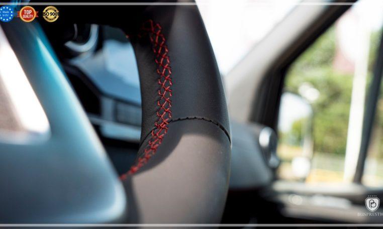 Mercedes-Benz Sprinter Luxury Van made by Busprestige M1 class driver steering wheel exclusive stitching