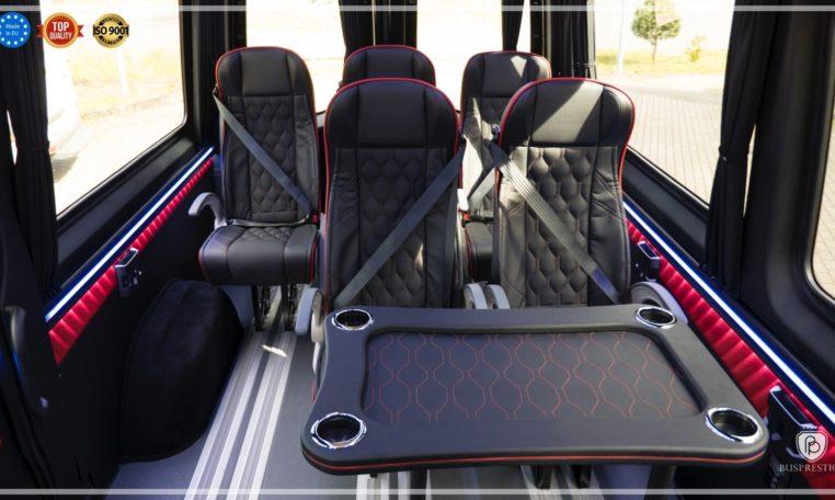 Mercedes-Benz Sprinter Luxury Van made by Busprestige M1 van interior view