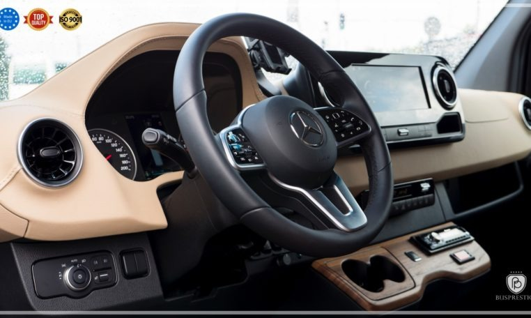 Mercedes-Benz Sprinter Luxury Van made by Busprestige leather steering wheel