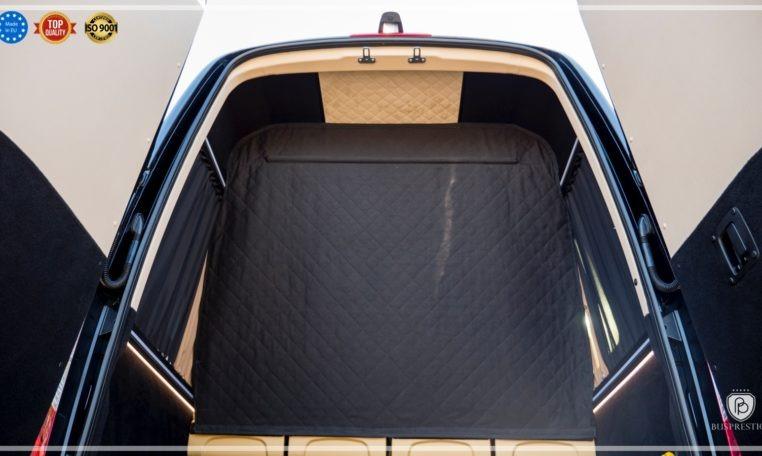 Mercedes-Benz Sprinter Bus 19 pax made by Busprestige luxury interior design luggage wall