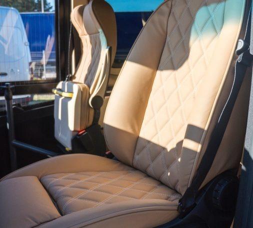 Mercedes-Benz Sprinter Bus 19 pax made by Busprestige luxury interior design driver seat in genuine leather