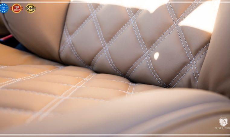 Mercedes-Benz Sprinter Bus 19 pax made by Busprestige luxury interior design seat decor sewing