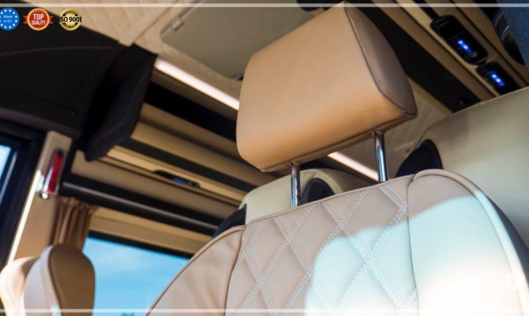 Mercedes-Benz Sprinter Bus 19 pax made by Busprestige luxury interior design seat head restraint