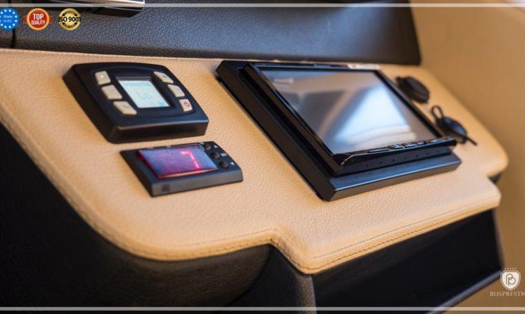 Mercedes-Benz Sprinter Bus 19 pax made by Busprestige luxury interior design steering panel