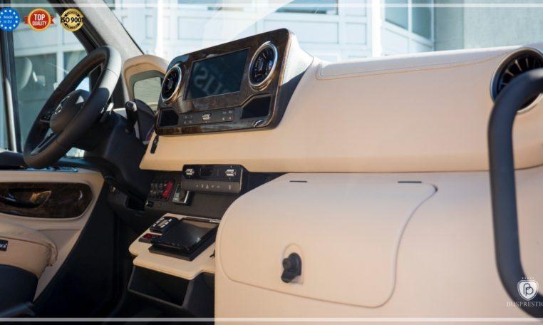 Mercedes-Benz Sprinter Bus 19 pax made by Busprestige luxury interior design fridge