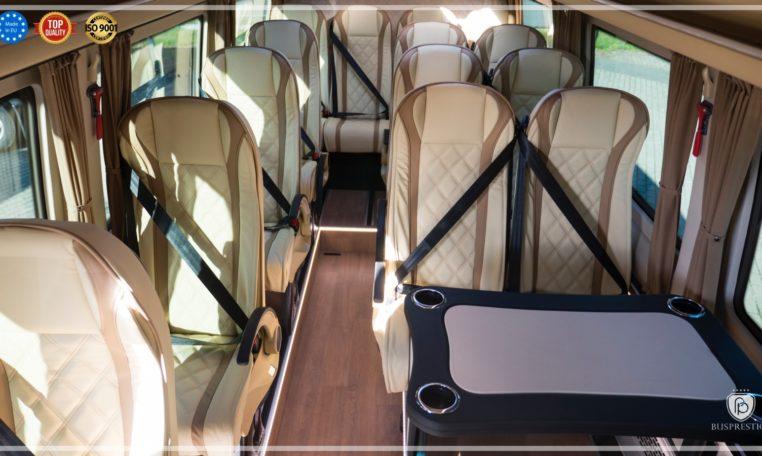 Mercedes-Benz Sprinter Bus 19 pax made by Busprestige luxury interior design interior view