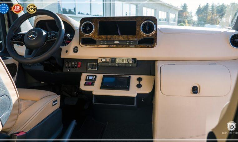 Mercedes-Benz Sprinter Bus 19 pax made by Busprestige luxury interior design driver dashboard