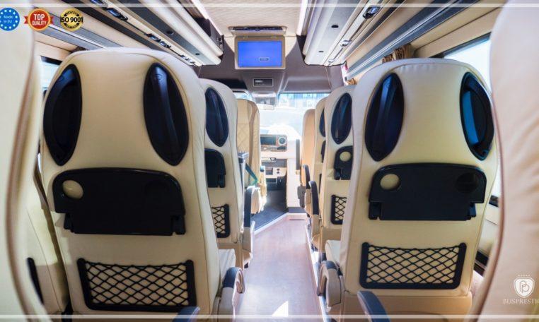 Mercedes-Benz Sprinter Bus 19 pax made by Busprestige luxury interior design rear view